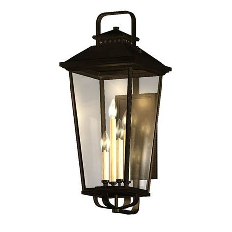 Lowes Outdoor Lights Shop Allen Roth Parsons Field 17 In H Black Outdoor Wall