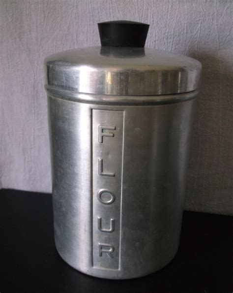 vintage metal kitchen canisters vintage metal kitchen canisters aluminum flour sugar