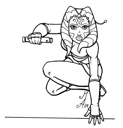 ahsoka tano coloring pages coloring pages
