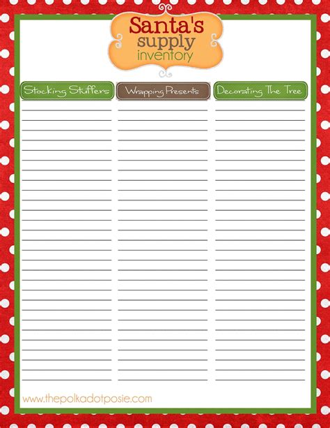 printable christmas sign up sheet the polka dot posie organizing printables to get you in the spirit a