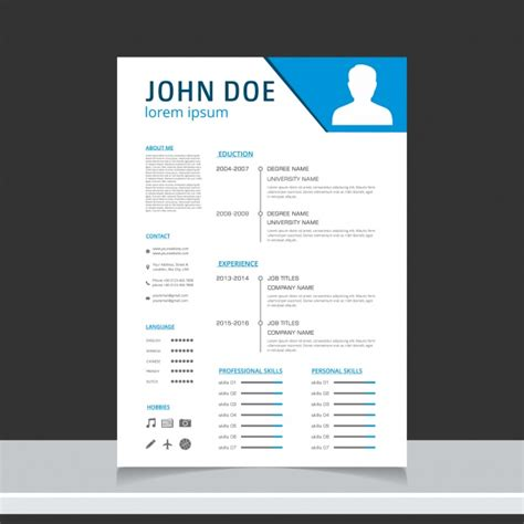 Curriculum Template Free by Curriculum Template Design Vector Free