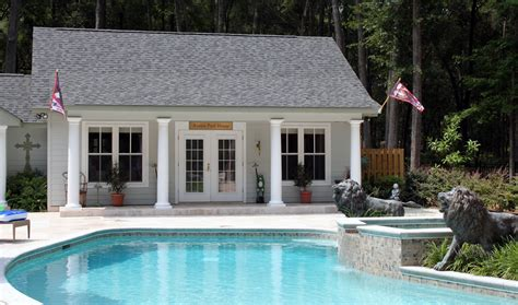 backyard pool house images of pool houses the azalea pool house was a three