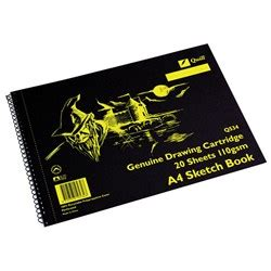 quill a3 sketchbook zqu10533 quill sketch book q533 a3 perforated 20 sheets