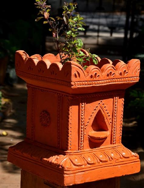 Themes For Kitchen Decor tulasi brindavan 12 inches pot ocimum sanctum only
