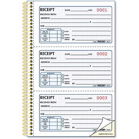 prepaid rent receipt template rediform money receipt book 225 sets book walmart