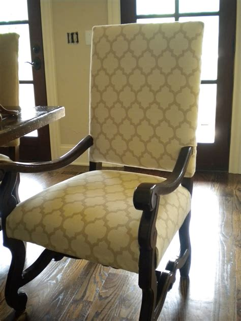 reupholstered dining chairs the material custom sewing interior redesign