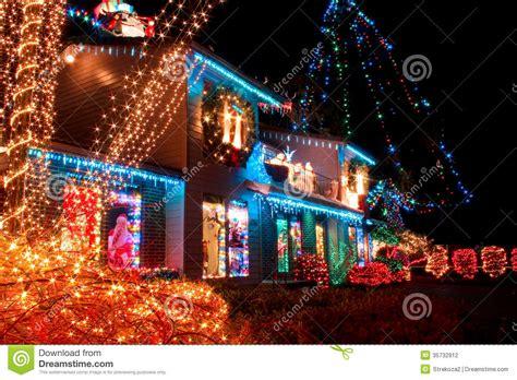 christmas village lights stock photography image 35732912