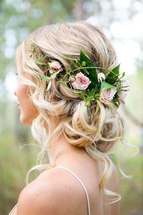 Vintage Rustic Wedding Hairstyles by Rustic Wedding Hairstyles Pink Wedding
