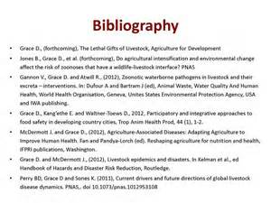 Of livestock bibliography