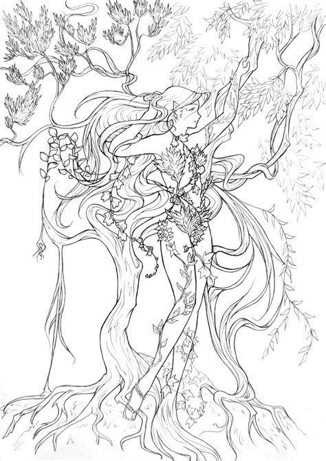 Entwinned Nature Lineart By Atelierdereve Coloring And Painting