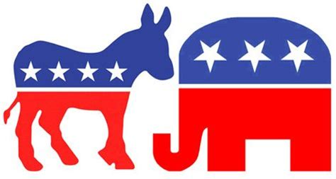 democratic symbol and color political animals republican elephants and democratic