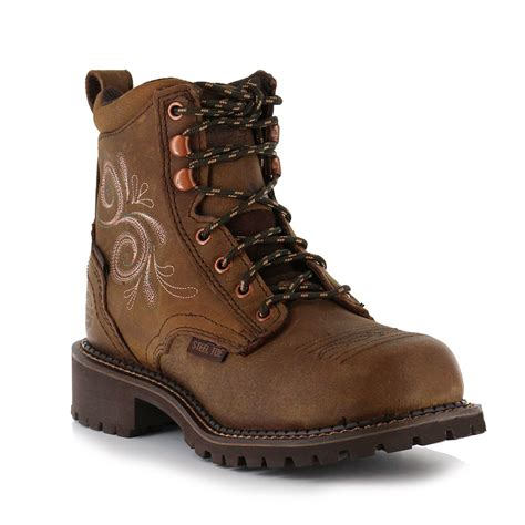 justin s 6 quot steel toe lace up work boots boot barn