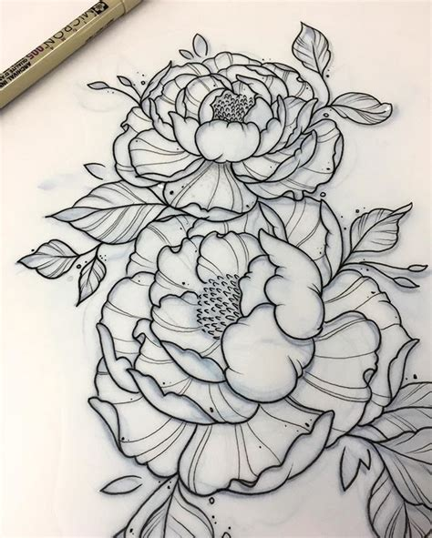 peony tattoo design collection of 25 peony