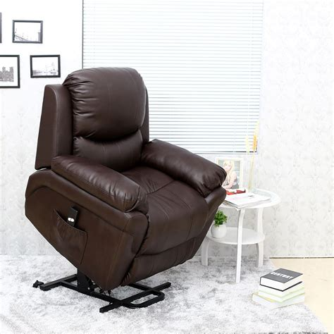 Real Leather Armchair by Elecrtic Rise Recliner Real Leather Armchair Sofa