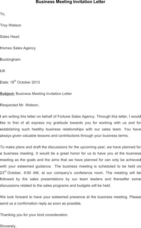 Business Conference Invitation Letter Hr Invitation Letter Templates For Excel Pdf And Word