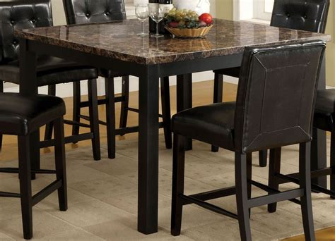faux marble counter height table boulder ii black faux marble square counter height leg