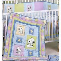 Snoopy Baby Crib Bedding Snoopy And Family 6 Crib Bedding Set Findgift