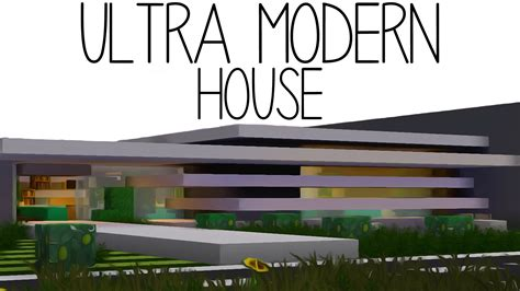 Ultra Modern Houses minecraft ultra modern house youtube