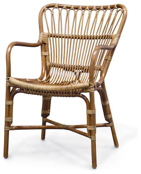 Rattan Kitchen Chairs Palecek Retro Rattan Dining Arm Chair Tropical Dining