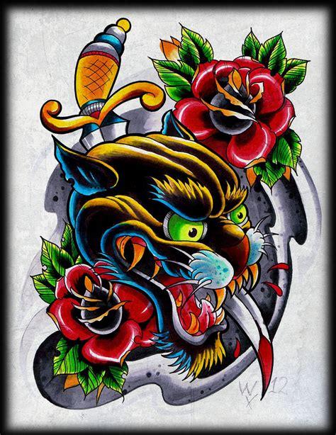 tattoo flash designs images panther marker flashsheet by willemxsm on deviantart