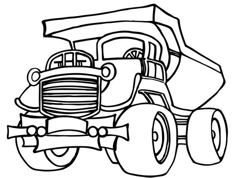 coloring page of dump truck dump truck coloring pages to download and print for free