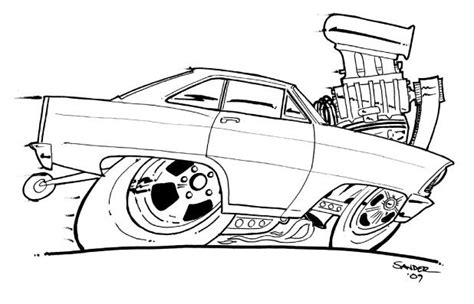 coloring pages hot rod cars hot rod coloring book chevy nova colouring pages page 2