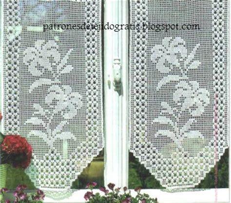 patrones cortinas ganchillo 10 patrones de cortinas y cenefas crochet filet patrones