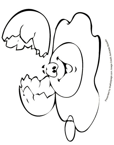 Cracked Egg Coloring Page by Cracked Egg Free Coloring Pages For Printable