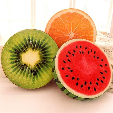 Sofa Fruit personalized 3d fruit cushion watermelon plush kiwi
