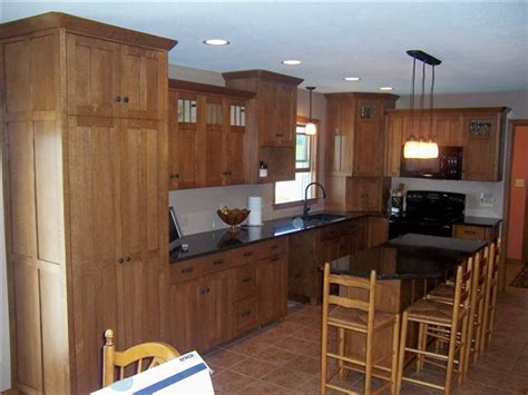 quartz countertops with oak cabinets hickory corner pantry cabinet 2015 home design ideas