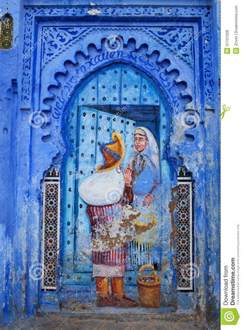 Medina Blue by Blue Medina Of Chefchaouen City In Morocco Africa