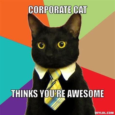 Meme Generator Kitten - resized business cat meme generator corporate cat thinks