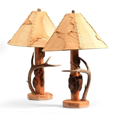 western style l shades pair of western style table lamps with fine leather shades