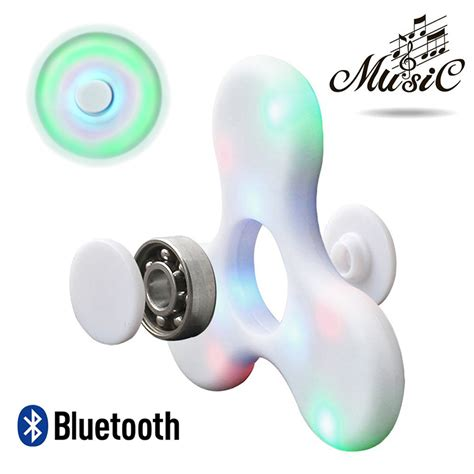 Fidget Spinner Led Bluetooth Speaker Hijau fidget spinner led light bluetooth speaker pink