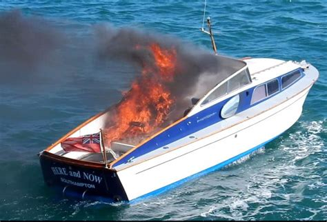 motorboat film yarmouth lifeboat launched to bond film motorboat blaze