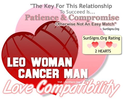 leo woman and cancer man not an easy match sun signs