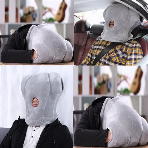 Anywhere Comfort Travel Pillow by Novel Portable Ostrich Shaped Pillow Travel