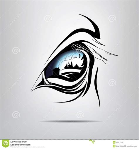 symbol equine eye vector illustration royalty free stock