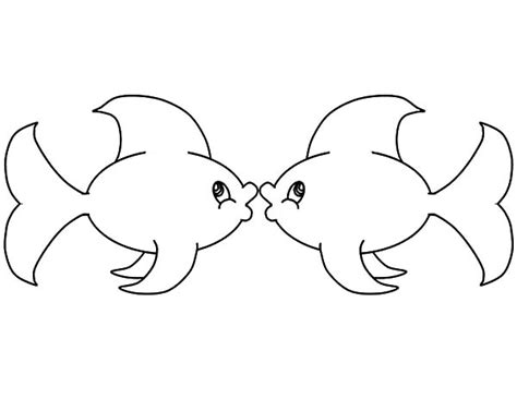 kissing fish coloring page fish lips free colouring pages