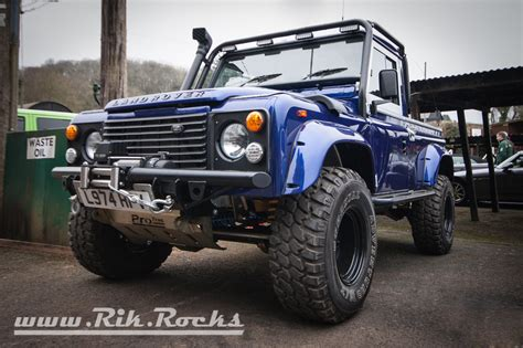 land rover defender 90 lifted rik rocks rik williams automotive photography