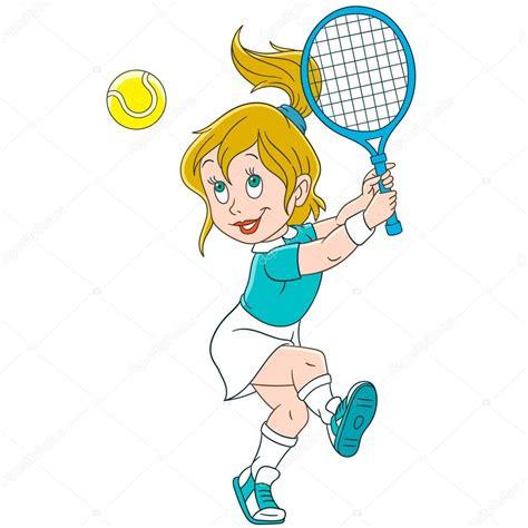 dibujos de niños jugando tenis jugador de tenis de ni 241 a de dibujos animados archivo