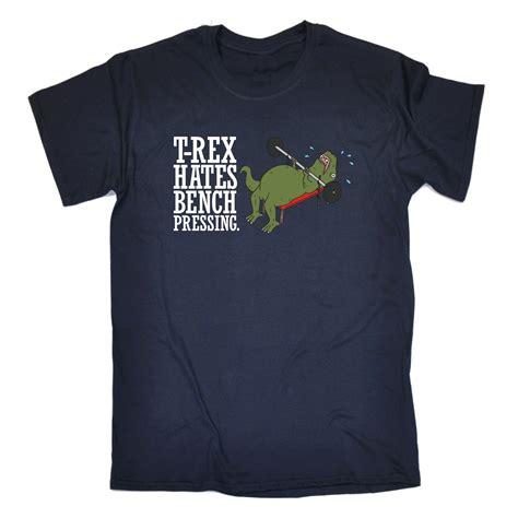 bench pressing shirt t rex dinosaur hates bench pressing t shirt tee funny