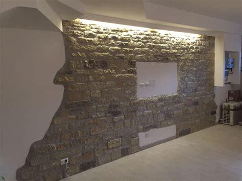 pareti soggiorno in pietra il soggiorno rinnovare con la pietra