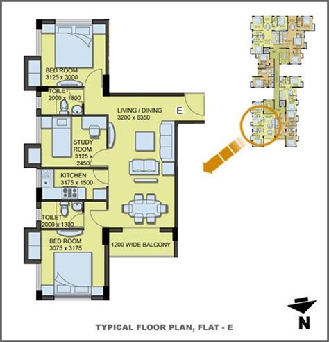 typical floor plan daffodil waterfront