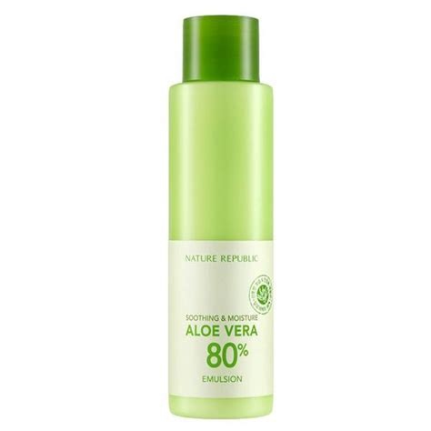 Nature Republic Soothing Moisture Aloe Vera Emulsion Review soothing moisture aloe vera 80 emulsion
