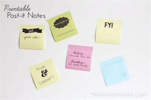 printable sticky notes template printable post it notes free layout to print and make
