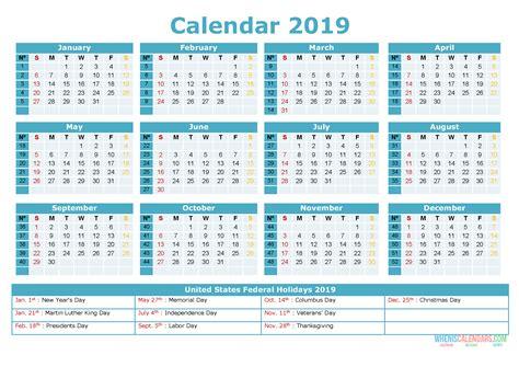 printable yearly calendar   holidays