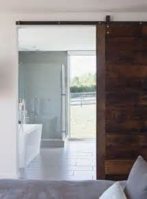 Barn Door For Bathroom Sliding Bathroom Barn Door Say Yes Bed And Bath