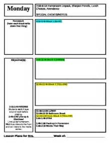 lesson plan schedule template lesson plan template for block schedule week time frame by