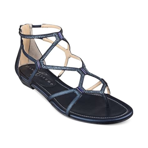 navy blue flat dress sandals ivanka kalia flat sandals in blue lyst